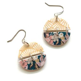 Japanese pattern earrings