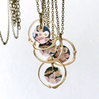 Gold ring pendant necklace patterns clay