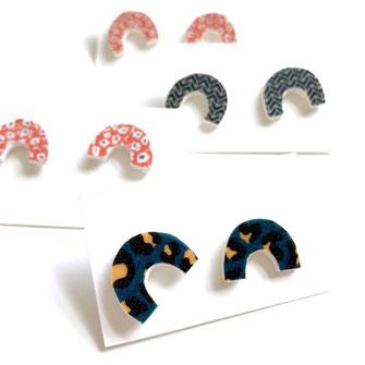 mini arch studs leaopard print