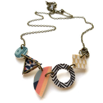 random shapes modern handmade necklace