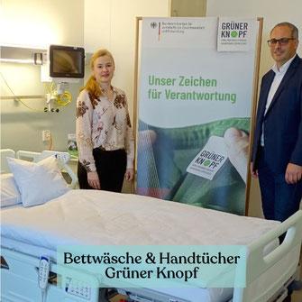Grüner Knopf zertifizierte Bettwäsche für Pflegeheime und Krankenhäuser kaufen