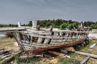 Boot aus Altholz