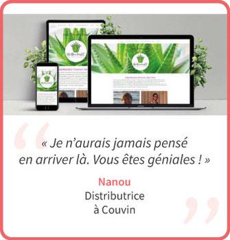 nanou a créé un site internet à couvin