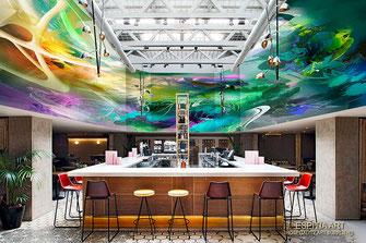 Mural Ceiling, Bar Restaurant