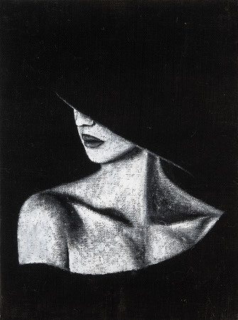 Quadro pittorico - Dipinto su tela -  Soggetto femminile