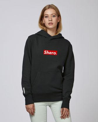 """""""SHERO"""" HOODIE 75€ ( 2 kleuren)"""
