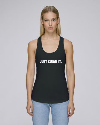 """JUST CLEAN IT"" TANK TOP 45€ (2 KLEUREN)"