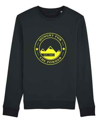 """HUNGRY FOR THE POWDER"" SWEATER 65€"