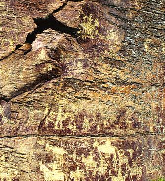 Petroglifos en Domingo García