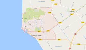 Kaart van gemeente Urk