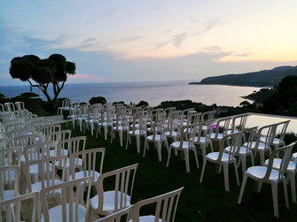 Locations chaises et tables mariage cassis
