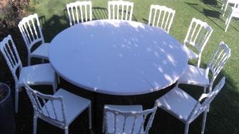 tables rondes à louer  à allauc 13190