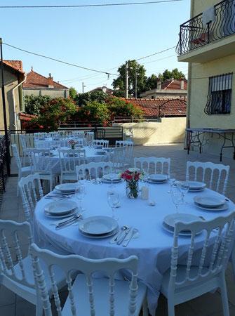 location chaises et tables Marseille