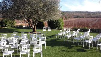location chaises domaine les terres de saint Saint Hilaire 83470 Ollières,  saint maximin, tourves, nasn les pins, trets