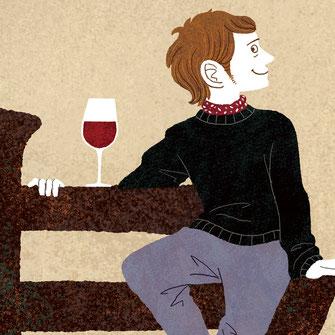 男性 ワイン イラスト