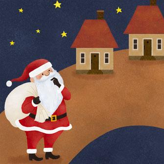 サンタクロースと家