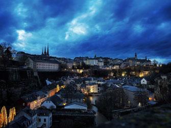 Luxemburg bei nacht
