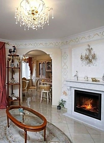 Дизайн интерьеров квартиры. Фотография кухни в квартире на ул. Бассейной