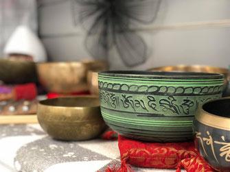 bols tibetains pour le relaxation et le meditation