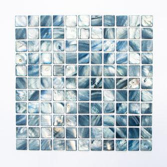 Muschelmosaik mix blau grau Mosaikfliesen