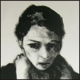 Serie Frau, Malerei von Sandra Hosol, Weiden