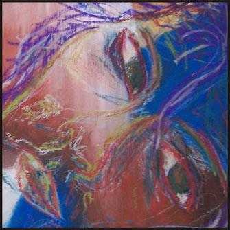 Serie Mensch, Portrait, Malerei von Sandra Hosol, Weiden