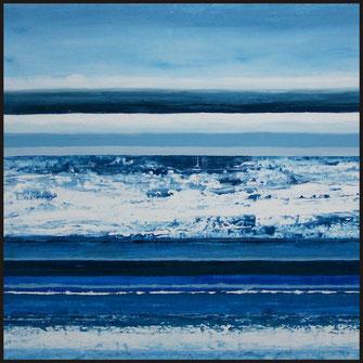 Serie Landschaftserinnerung, Malerei von Sandra Hosol, Weiden