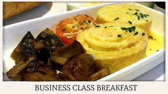 China Southern Airlines A380 business class breakfast