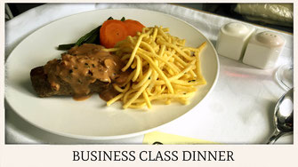 China Southern Airlines A380 business class food