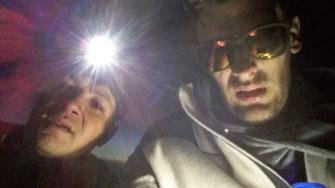 selfie au sommet du Toubkal de nuit