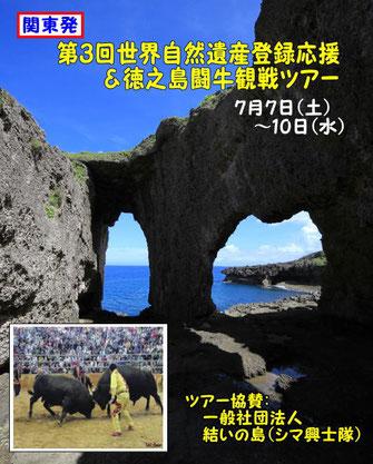 第3回世界自然遺産登録応援&徳之島闘牛観戦ツアー【関東発】