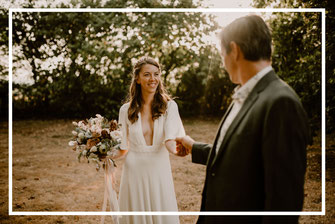 Découverte premier regard des mariés, organisation et décoration thème tons neutres d'un mariage par My Daydream Wedding, wedding planner et décoratrice de mariage à Lille et dans le Nord