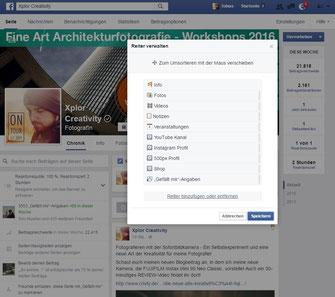 Screenshot Facebook Fanpage Apps nachinstallieren Reiter hinzufügen entfernen