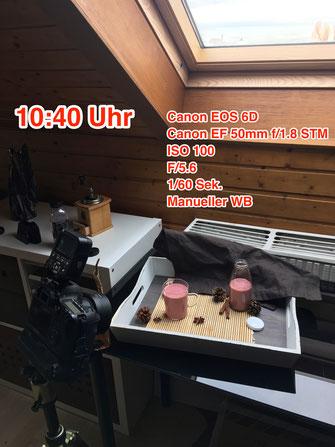 Aufnahme-Setup einer Food Fotografie von Tobias Gawrisch (Xplor Creativity)