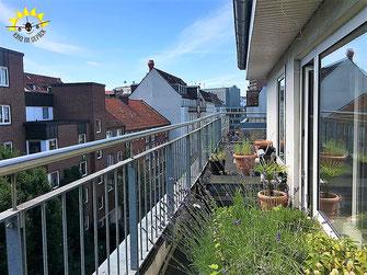 Geräumiges Penthouse mitten in Hamburg.