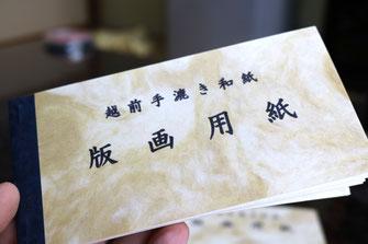 越前手漉き和紙 版画用紙 (見本帳) (1)