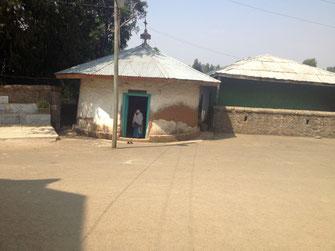 Visite de l'église Saint Maryam d'Entoto d'Addis Abeba en Ethiopie.