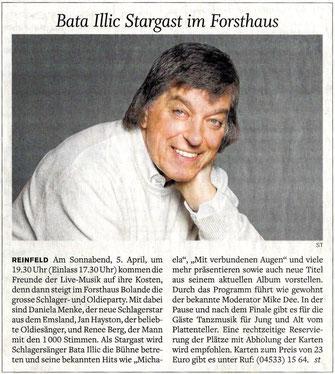 """(""""Stormarner Tageblatt"""", Tageszeitung in Schleswig-Holstein - 28. März 2014)"""