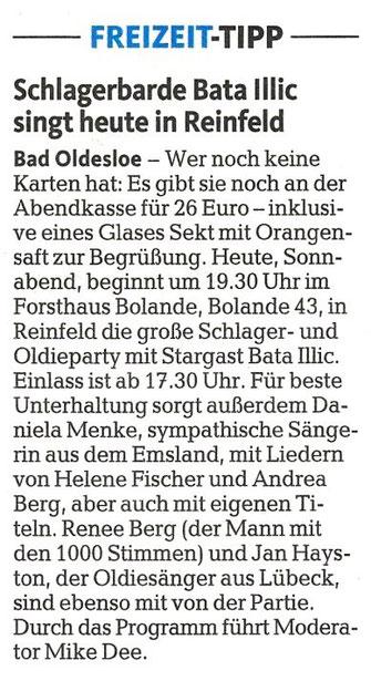 """(""""Lübecker Nachrichten"""" (Ausgabe Stormarn) - 05. April 2014)"""