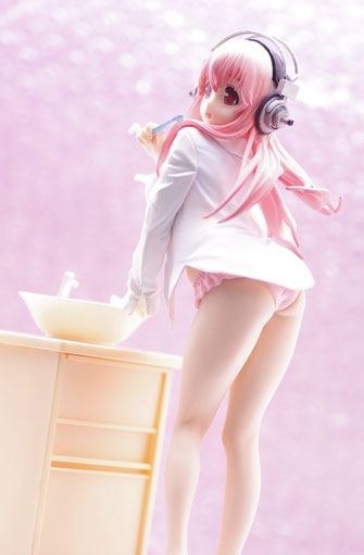 Super Sonico Figur Everyday Life Collection Teeth-Brushing Version