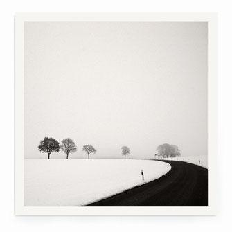 """""""Rural Winter Road"""" Art Print von Lena Weisbek"""