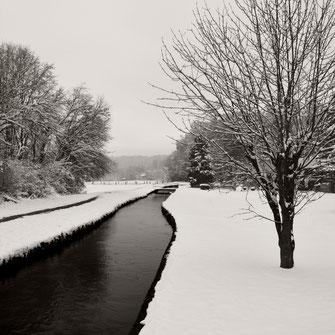 """""""Curve in Snow"""" Art print von Lena Weisbek"""