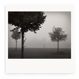 """Walking In Fog"" Art Print von Lena Weisbek"