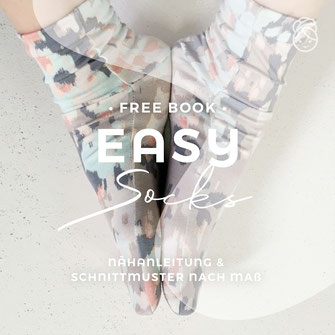 freebook gratis Nähanleitung Socken Easy Socks