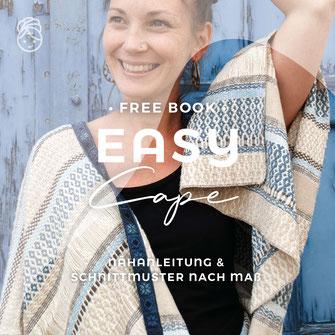 freebook gratis Nähanleitung Easy Cape