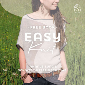 freeBook Easy Knit Oversize Shirt gratis Nähanleitung eBook