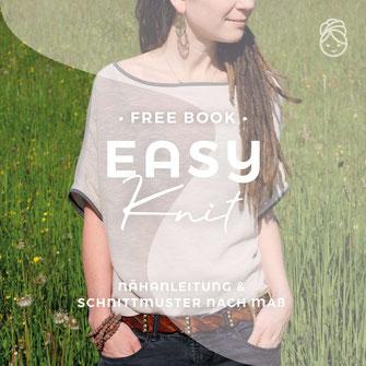 freeBook Easy Knit Oversize Shirt gratis Nähanleitung eBook