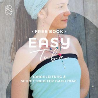 freebook gratis nähenaleitung easy Tube Top schulterfrei Sommertop Oberteil