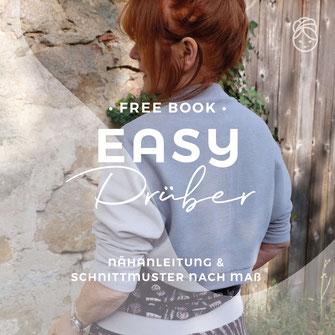 freebook gratis Nähanleitung Easy Drüber Cadigan Jäckchen