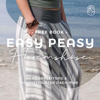 Easy Peasy Haremshose freeBook gratis Nähanleitung